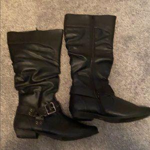 Women's Tall Black Boots NWB